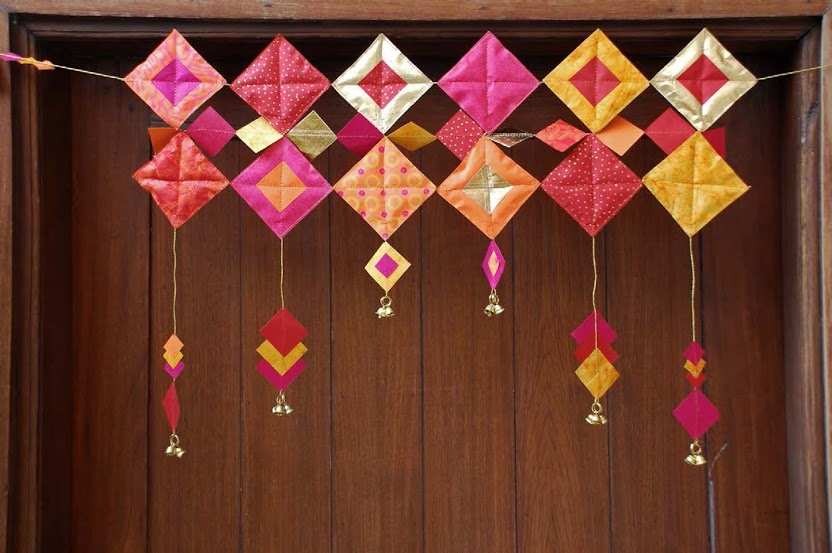 Diwali Home Decoration Ideas Photos Part - 38: Handmade-paper-toran